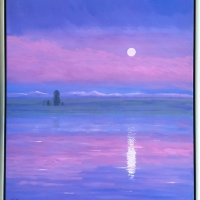 21-30-Henrys-Fork-Moonrise-44-x-40-Oil-on-Canvas-Signed-LL-5500